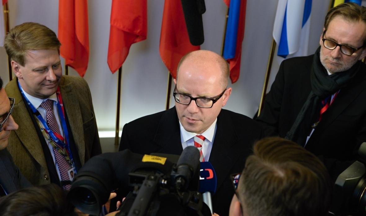 Bohuslav Sobotka na summitu v Bruselu