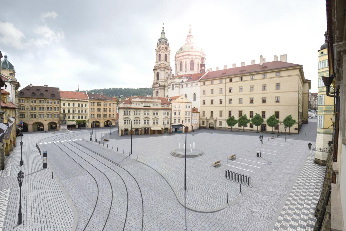 Návrh rekonstrukce Malostranského náměstí