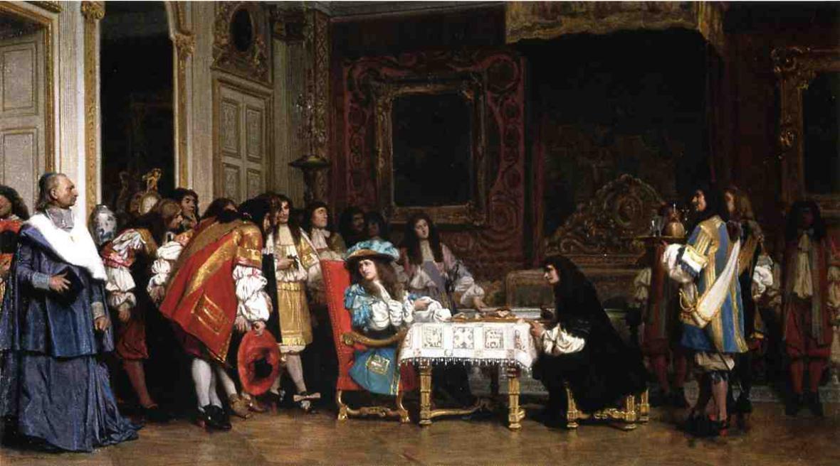 Jean-Léon Gérôme / Ludvík XIV. a Moliere
