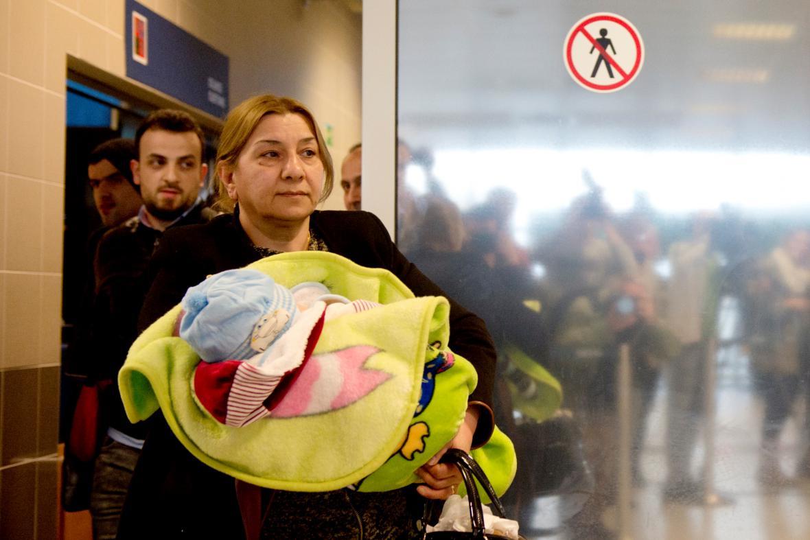 Uprchlíci z Iráku na ruzyňském letišti