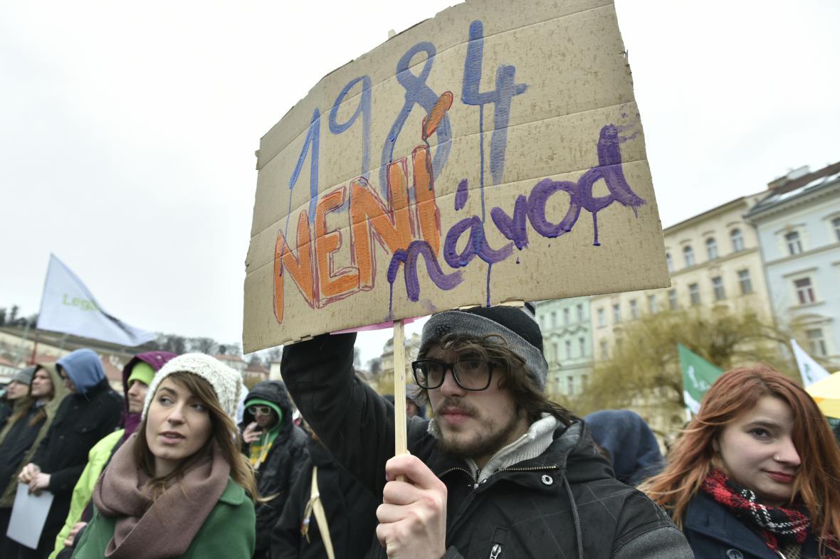 Demonstrace za svobodný internet