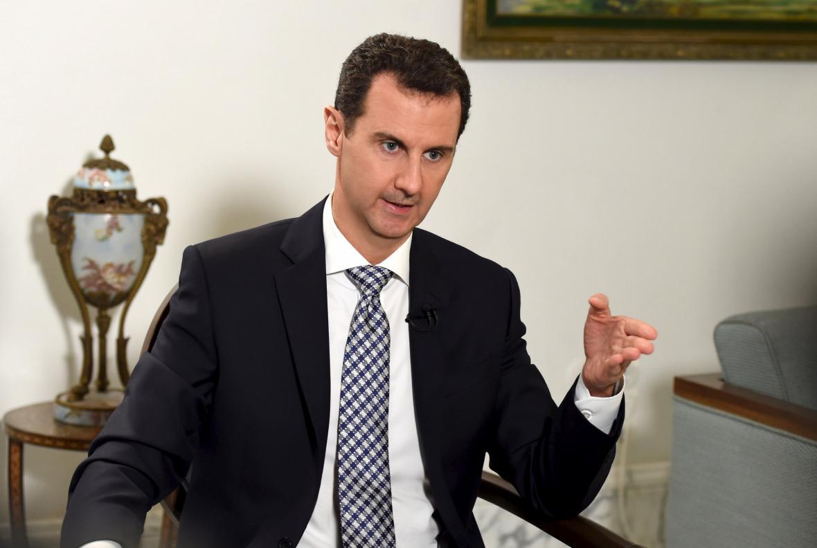 Asad během rozhovoru pro El País