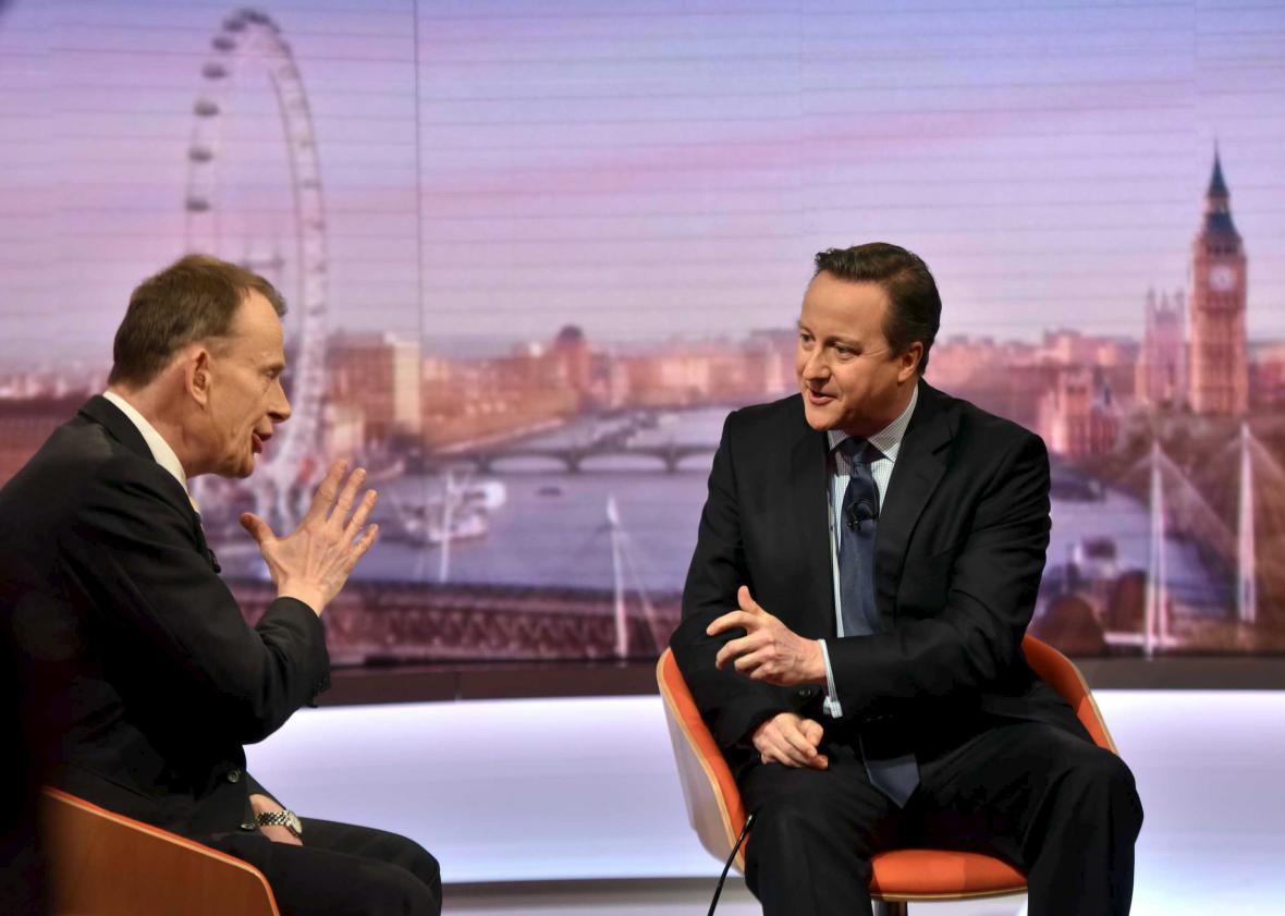David Cameron v diskusním pořadu Andrewa Marra