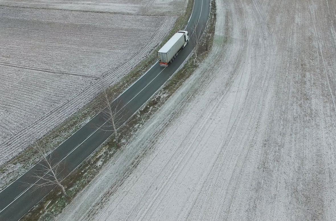 Záběr z policejního dronu