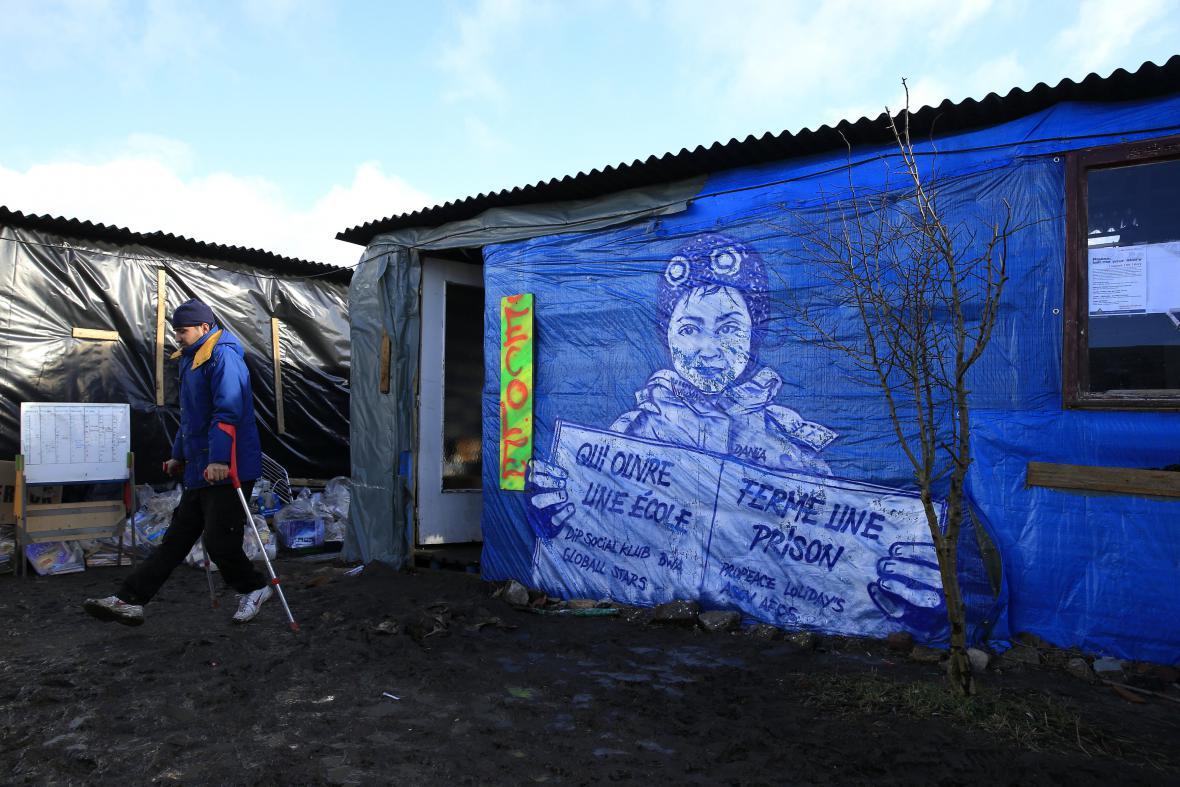 Škola v táboře Džungle v Calais