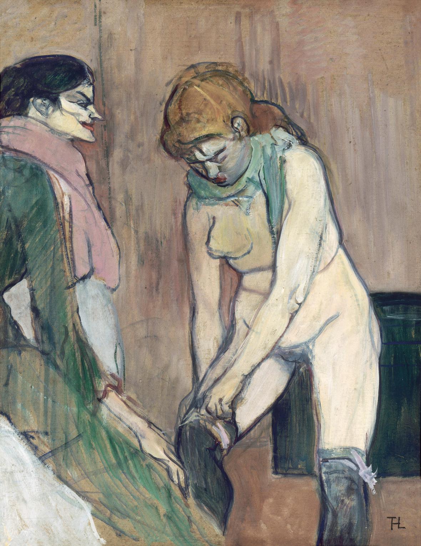 Henri de Toulouse-Lautrec / Žena oblékající si punčochy