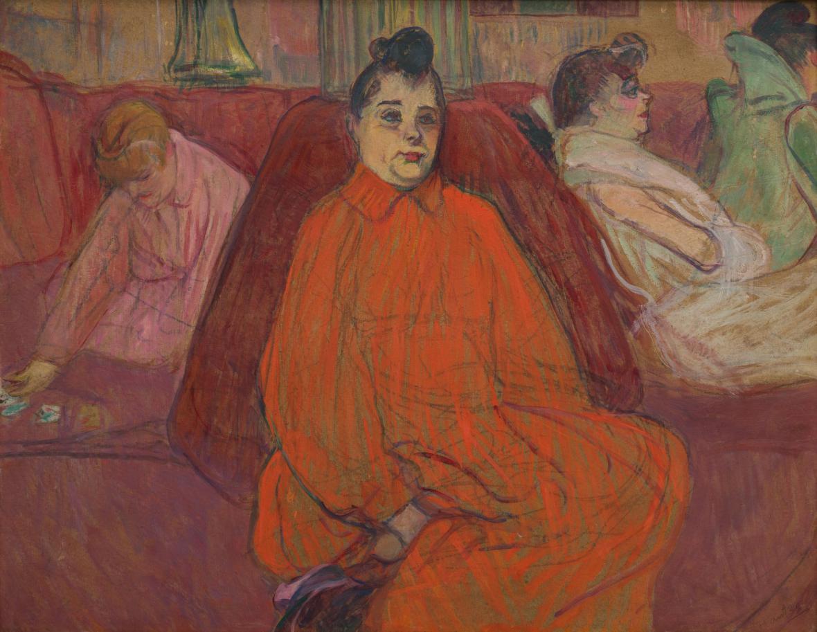 Henri de Toulouse-Lautrec / V salonu, pohovka