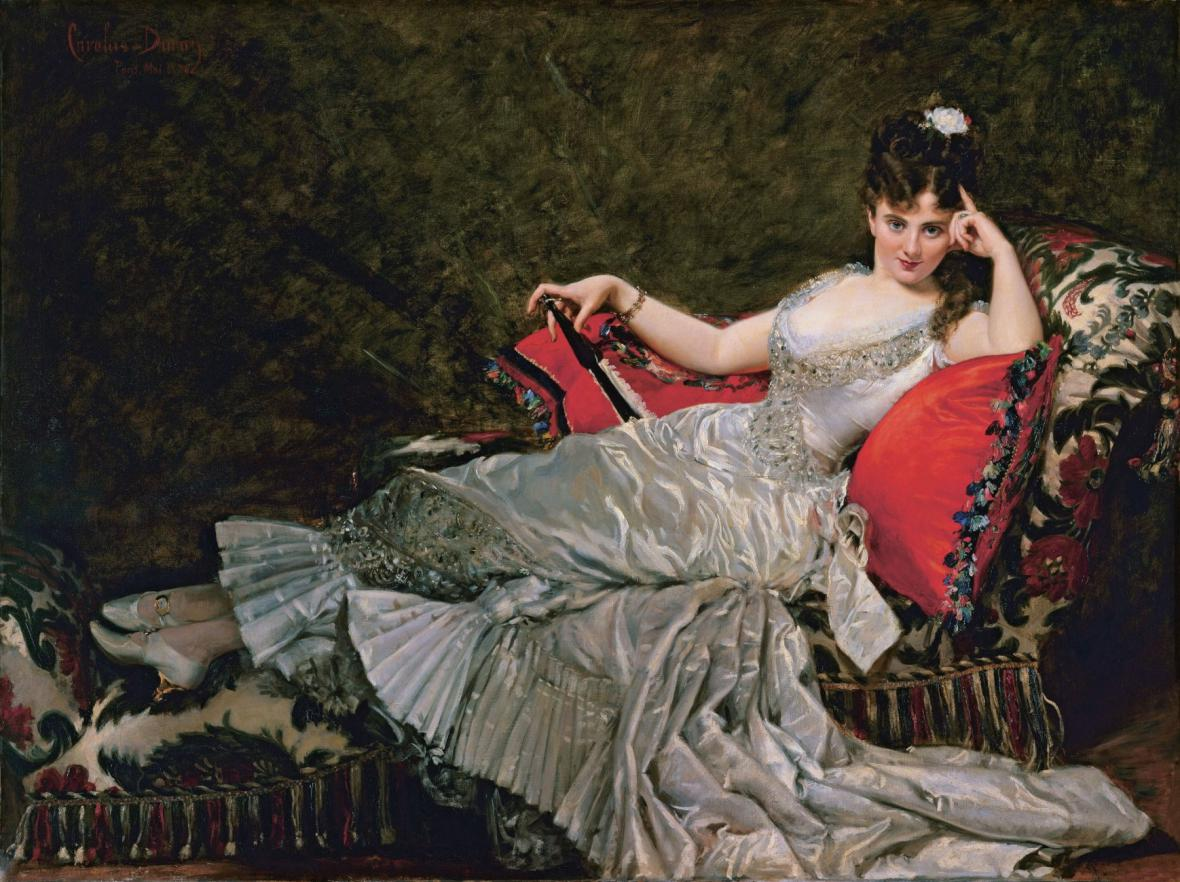 Charles Carolus-Duran / Portrét Julie Tahl známé jako mademoiselle Alice de Lancey