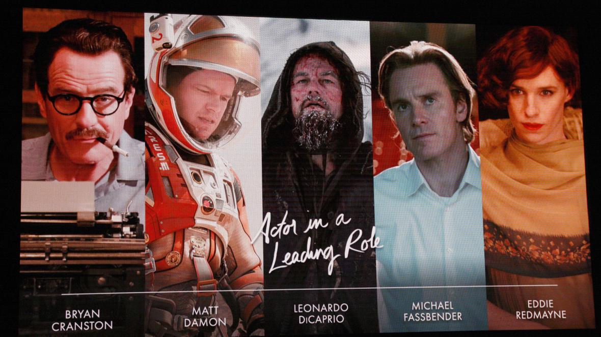 Herci nominovaní za hlavní roli na Oscara za rok 2015