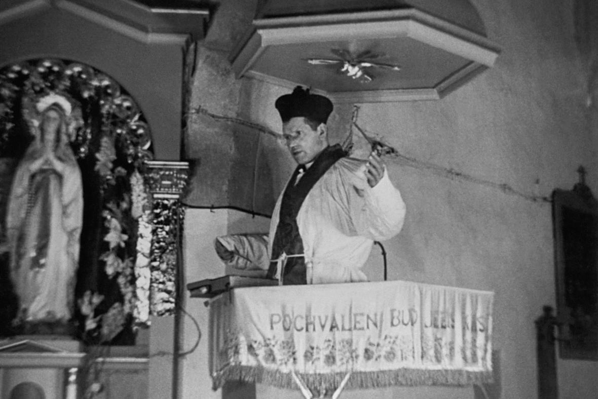 Josef Toufar při policejní