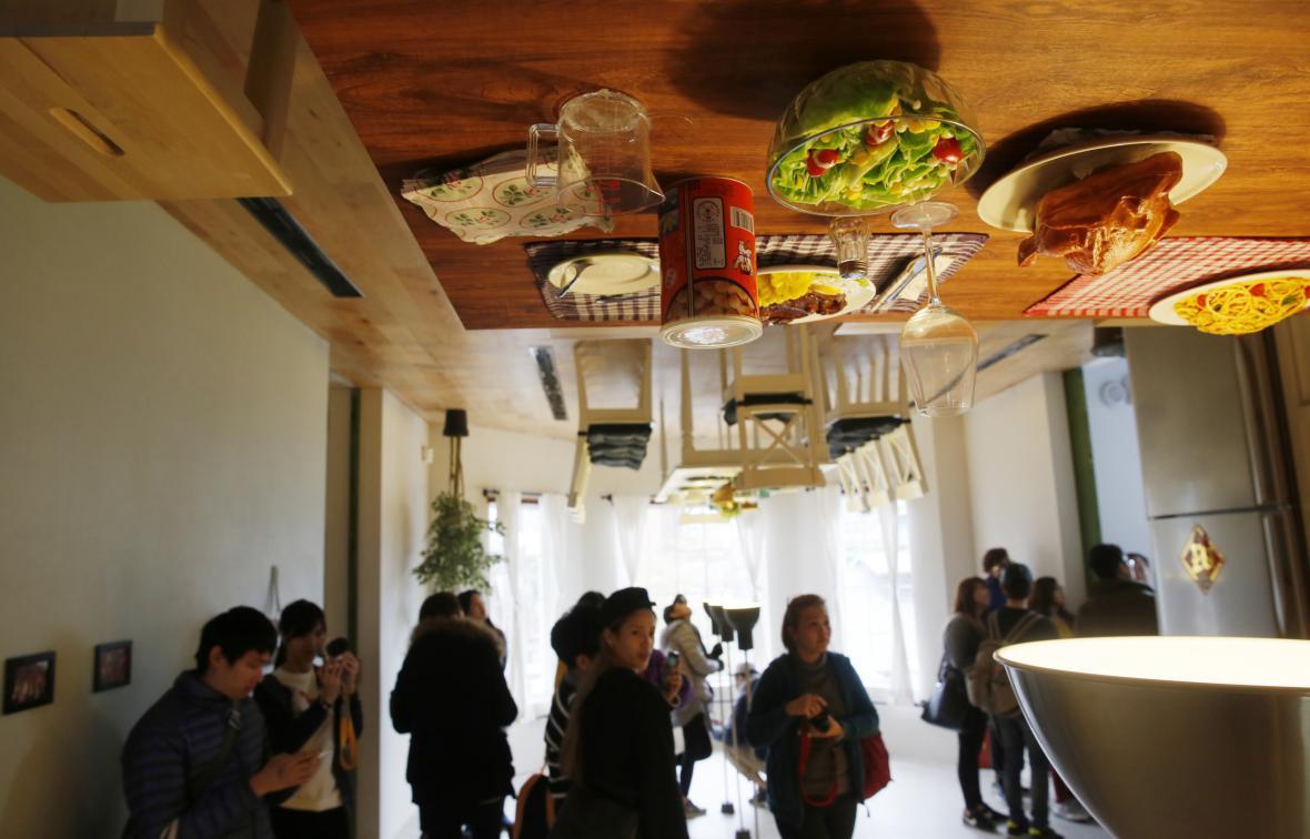 V tchajwanském domě je vzhůru nohama úplně všechno