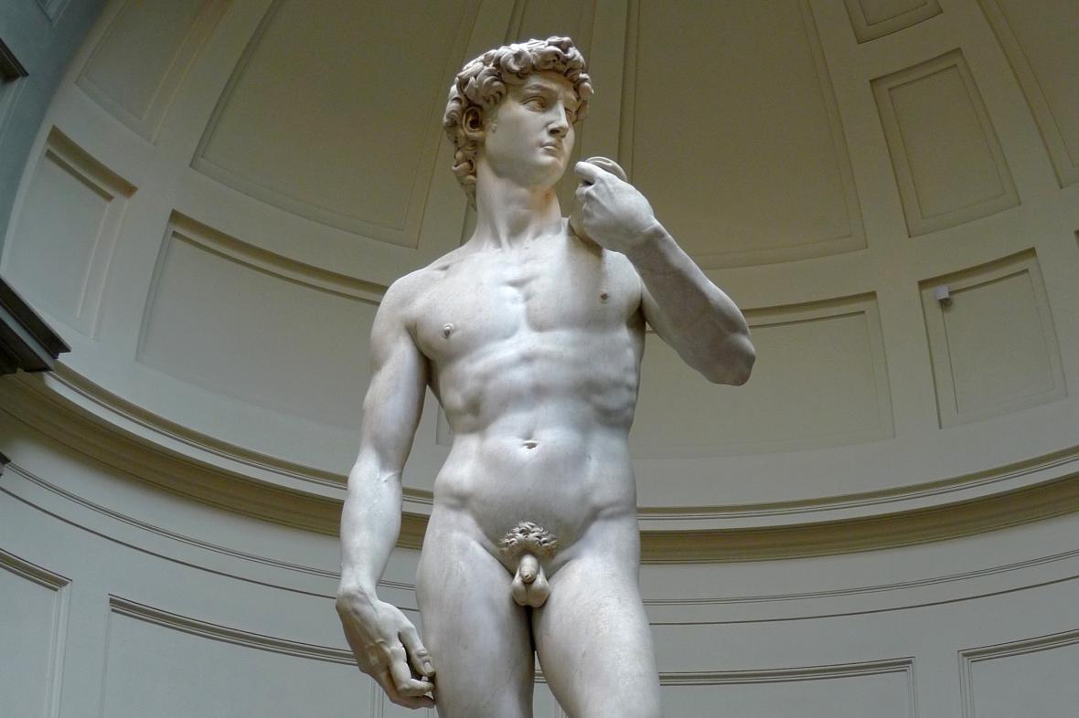 Michelangelova socha Davida ve Florencii