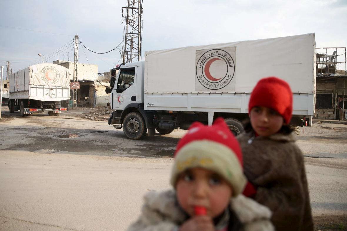 Humanitární pomoc v Sýrii