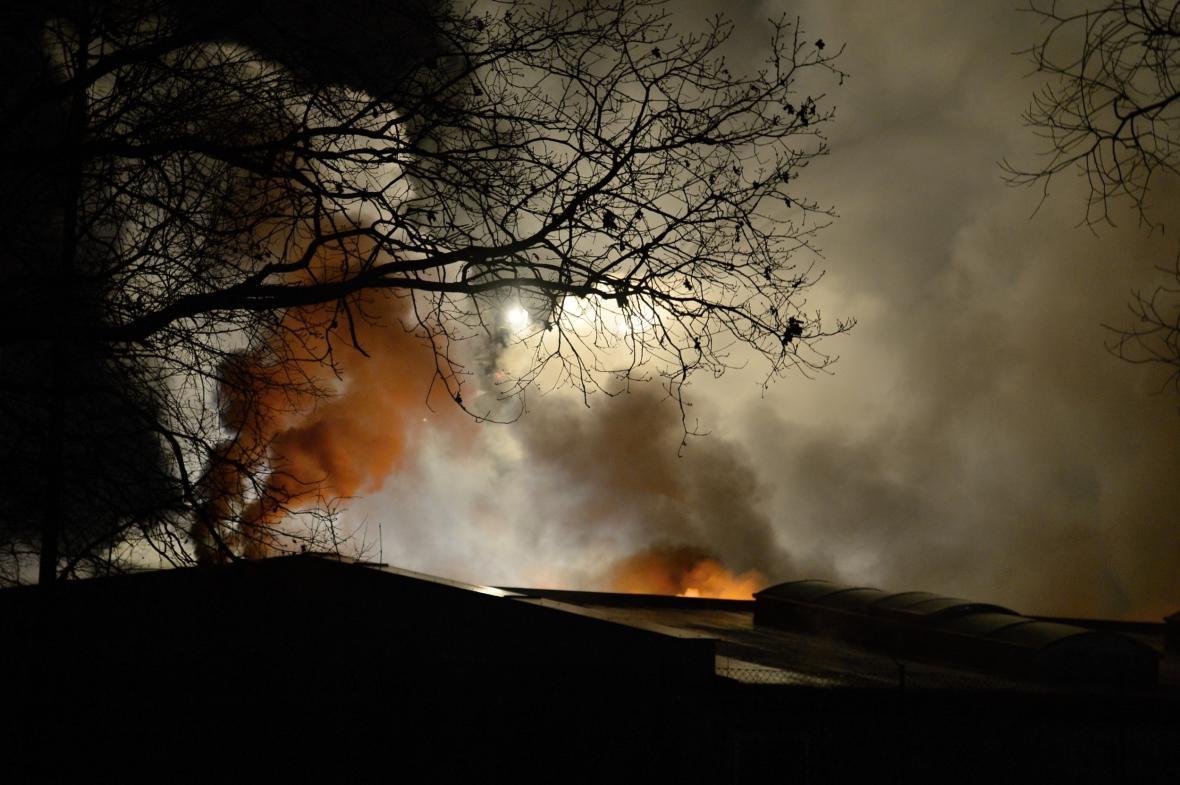 Požár v Příchovicích
