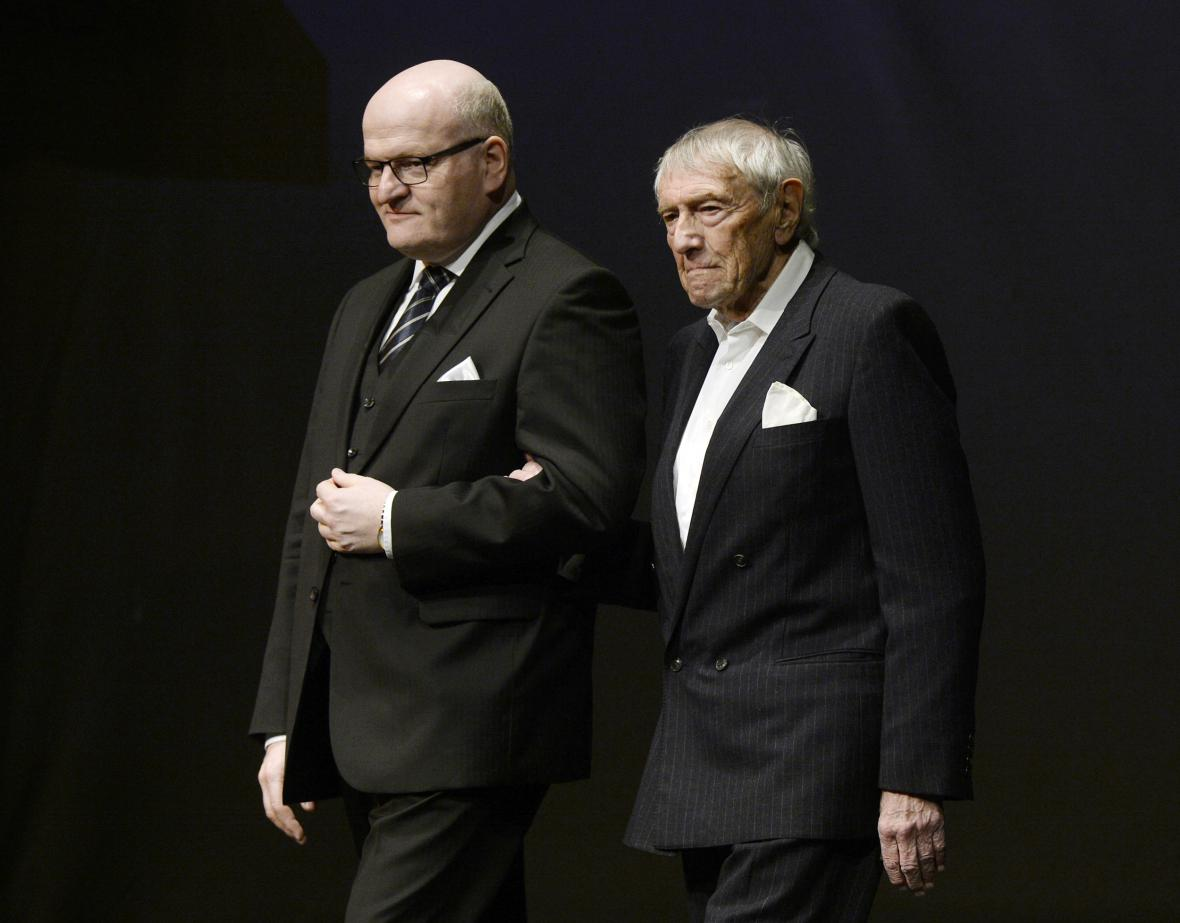 Daniel Herman (vlevo) a režisér František Miška