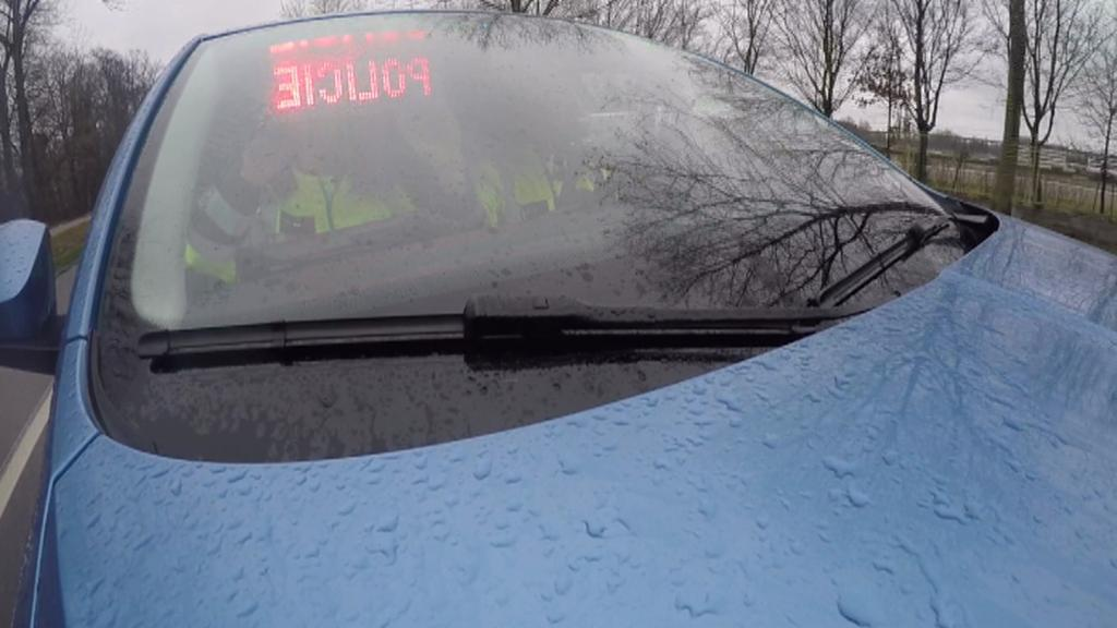 Neoznačený vůz dopravní policie