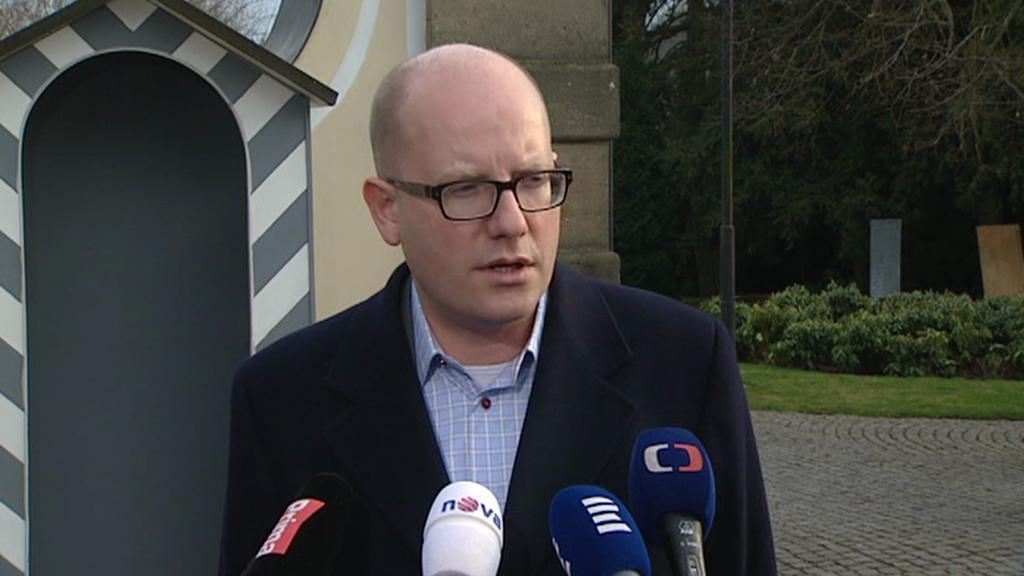 Premiér Bohuslav Sobotka po schůzce v Lánech