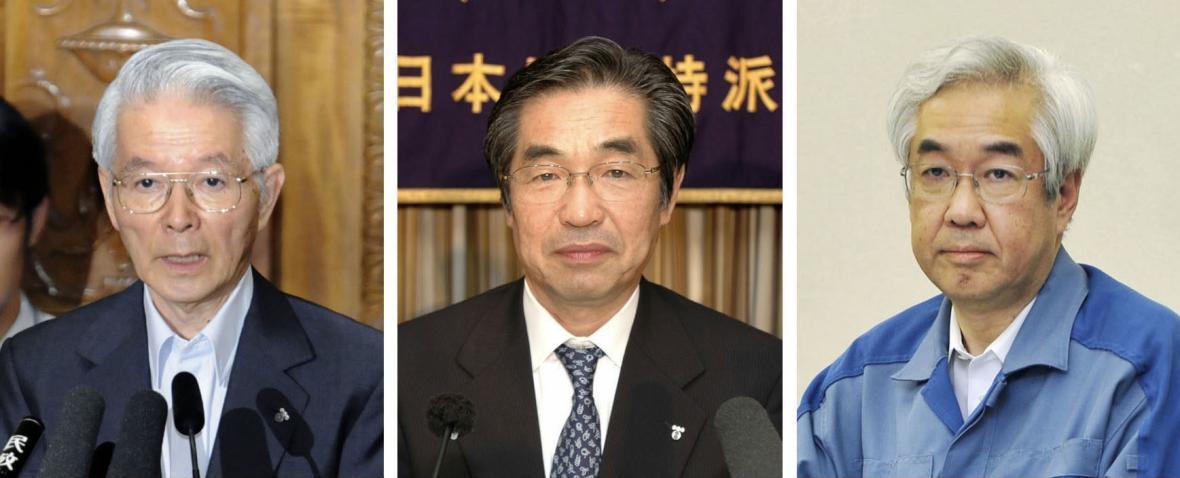 Tři obvinění exmanažeři firmy TEPCO