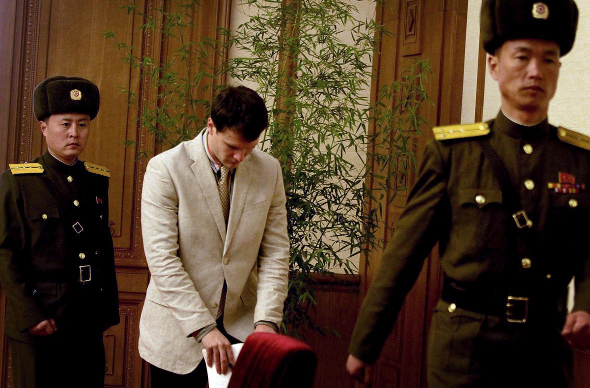 Otto Warmbier zadržovaný v KLDR