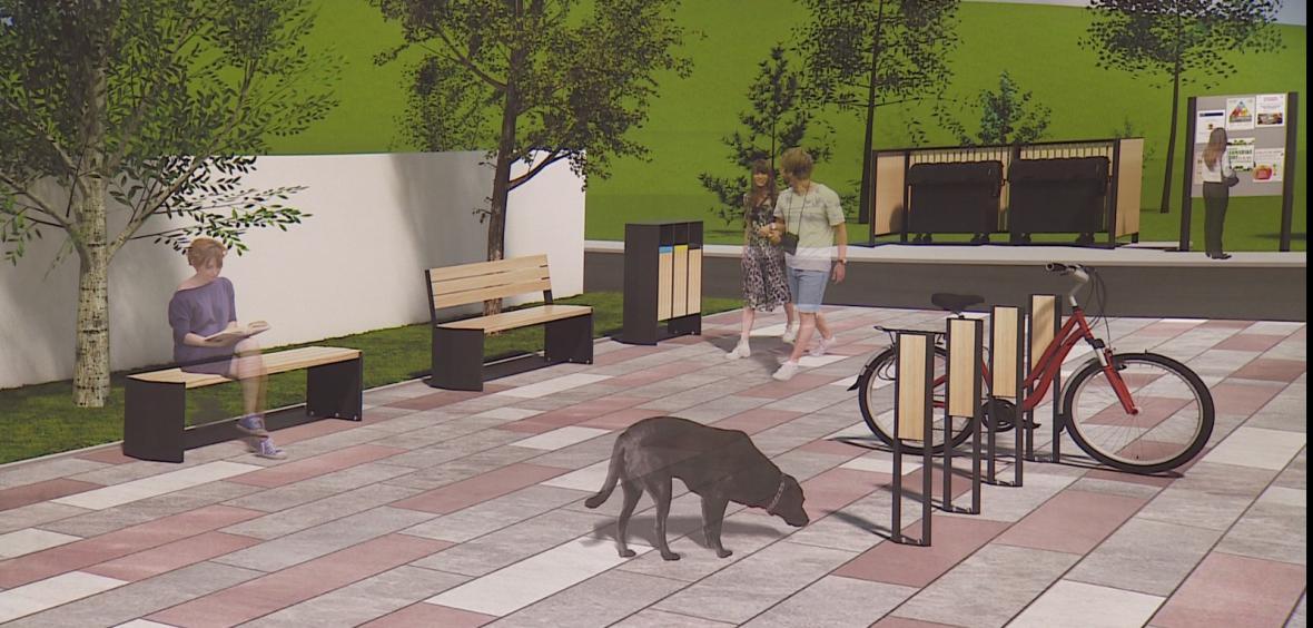 Studenti produktového designu navrhují novou podobu náměstí ve Šlapanicích