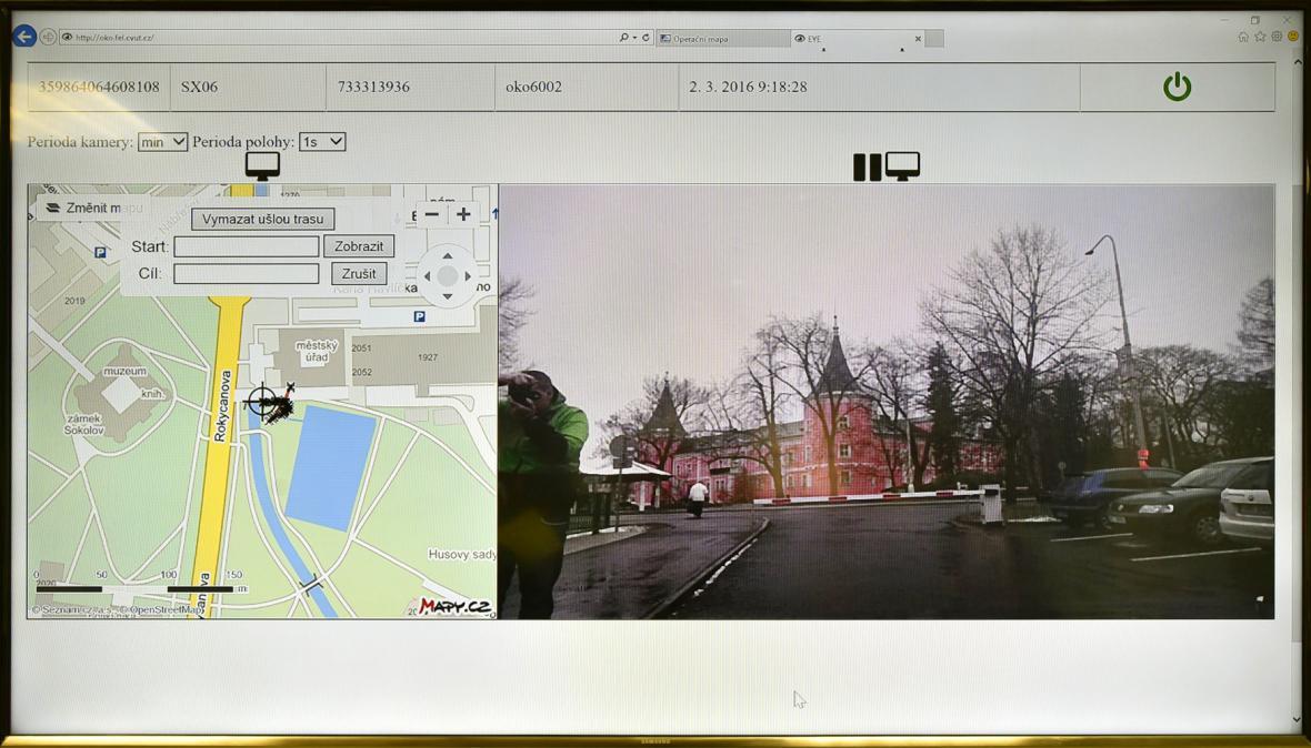Takto vidí obraz z kamery strážníci na dispečinku