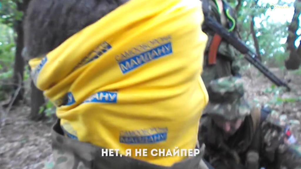 Záběr ze zatčení Nadji Savčenkové
