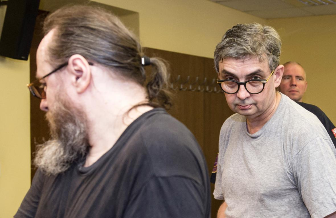 Odsouzení Jaroslav Hampl a Pavel Rohel
