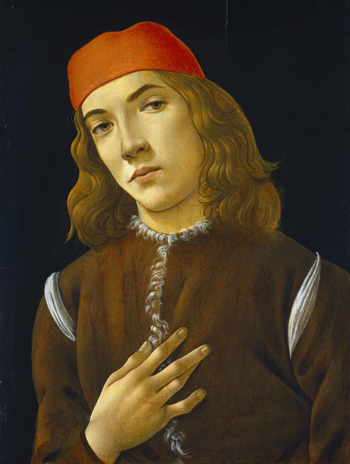 Sandro Botticelli / Portrét mladého muže, 1480-85