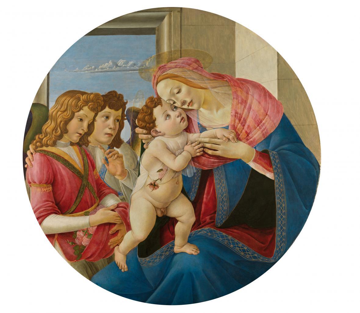 Sandro Botticelli / Madona a dítě se dvěma anděly, 1490