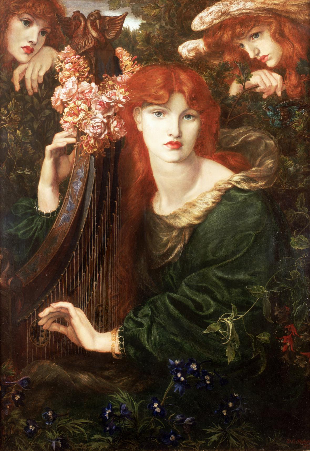 Dante Gabriel Rossetti / La Ghirlandata, 1873