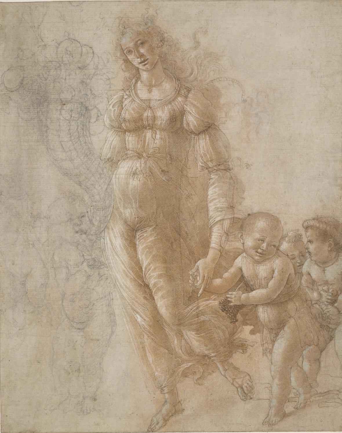 Sandro Botticelli / Alegorie hojnosti nebo podzimu, 1470-75