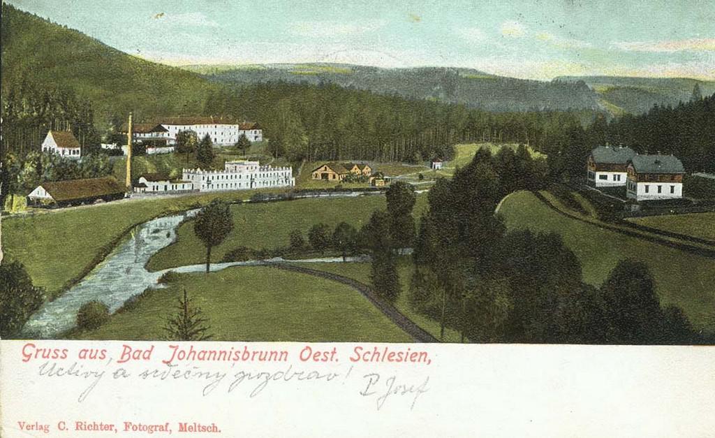 Jánské Koupele na dobové fotografii