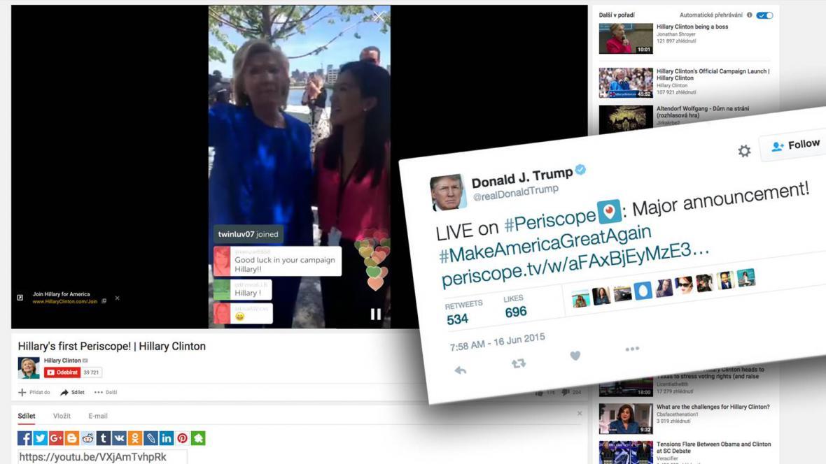 Periscope jako součást předvolebního boje v USA