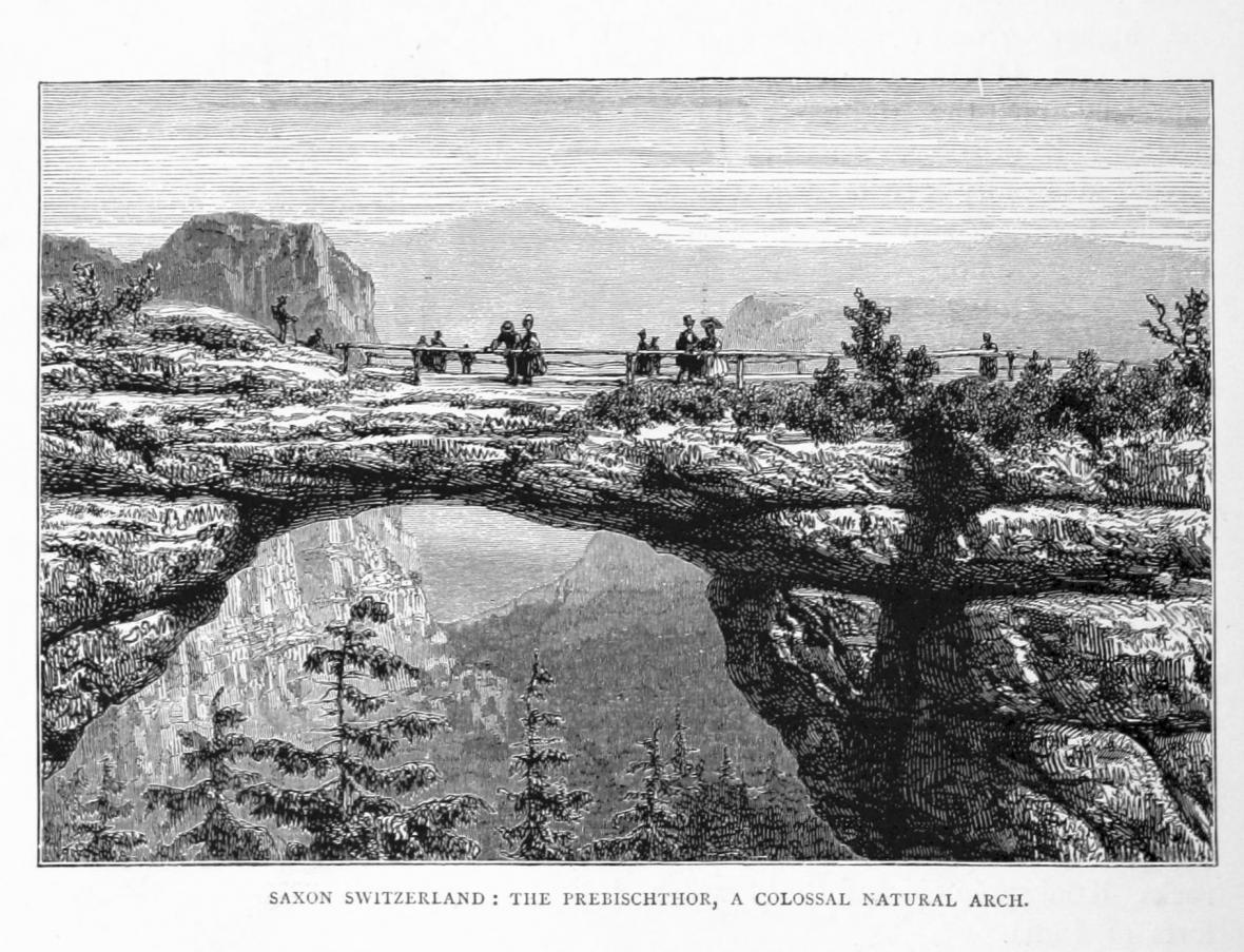 Kresba Pravčické brány z roku 1880