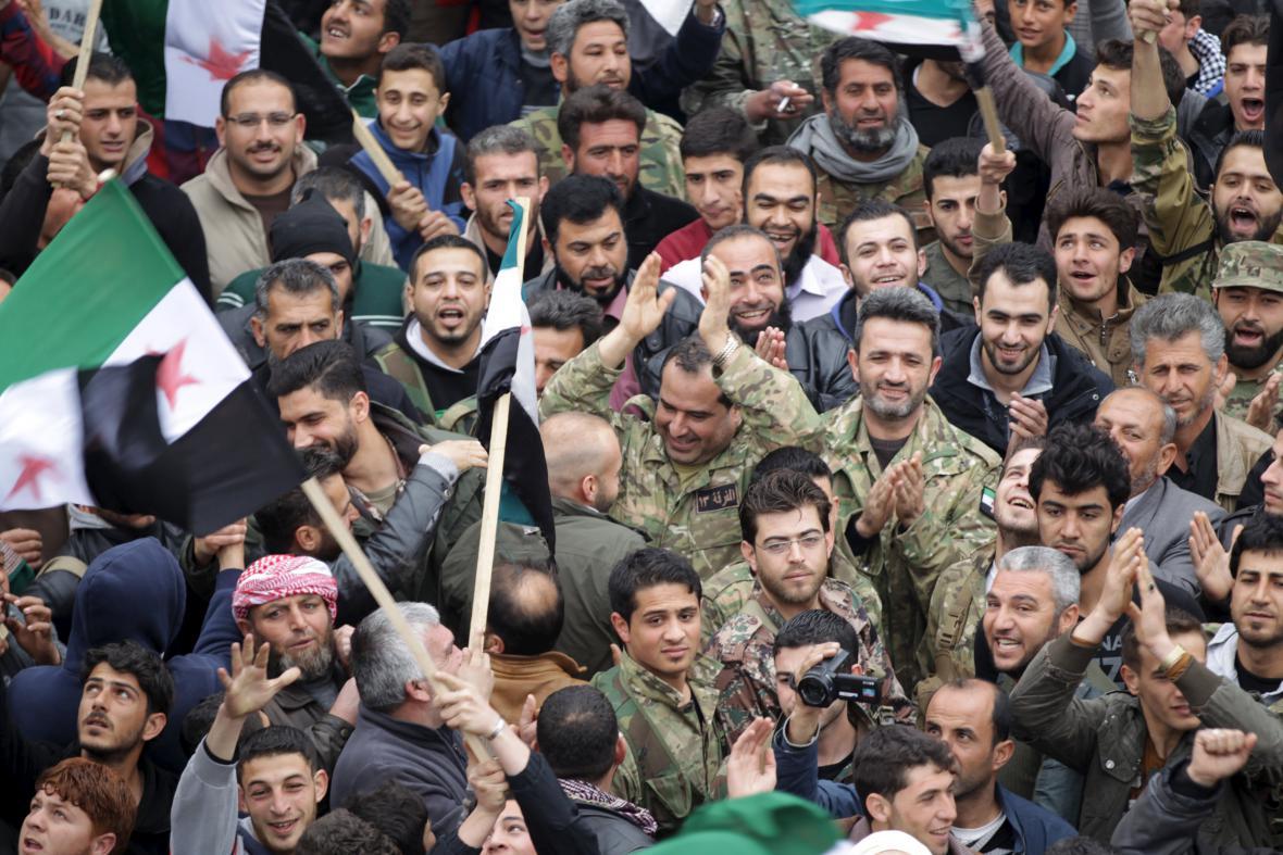 Demonstrace proti Asadovi