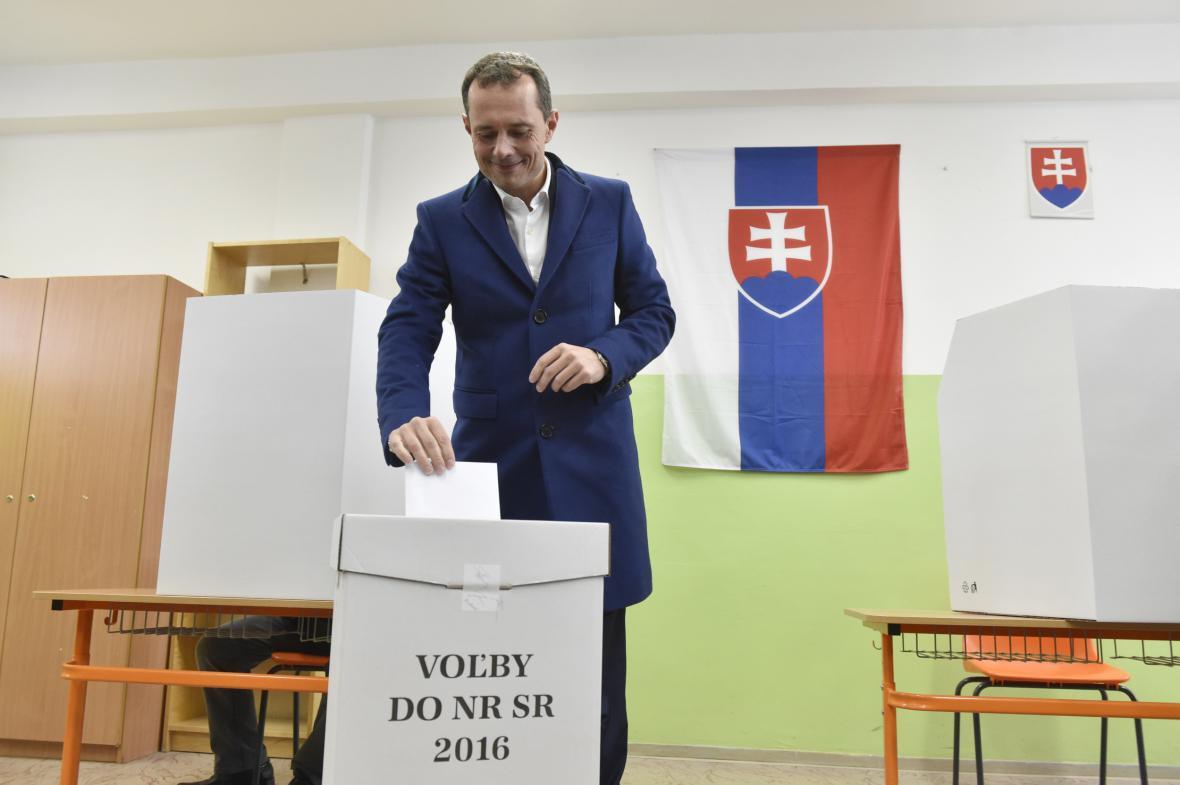 Radoslav Procházka volil v Trnavě
