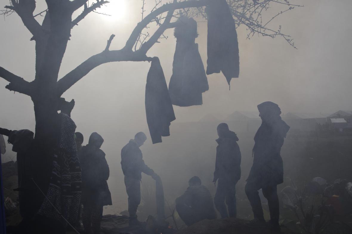 Bouřka zasáhla uprchlický tábor v Idomeni