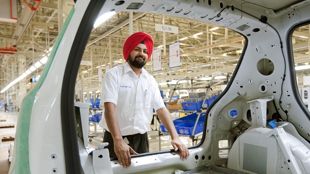 Továrna Voklswagenu v Indii