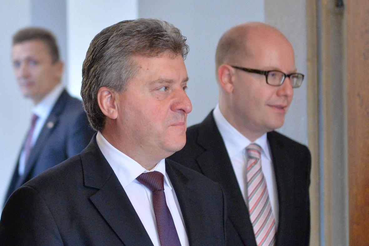 Makedonský prezident Ďorge Ivanov na návštěvě v Praze (15. února 2016)