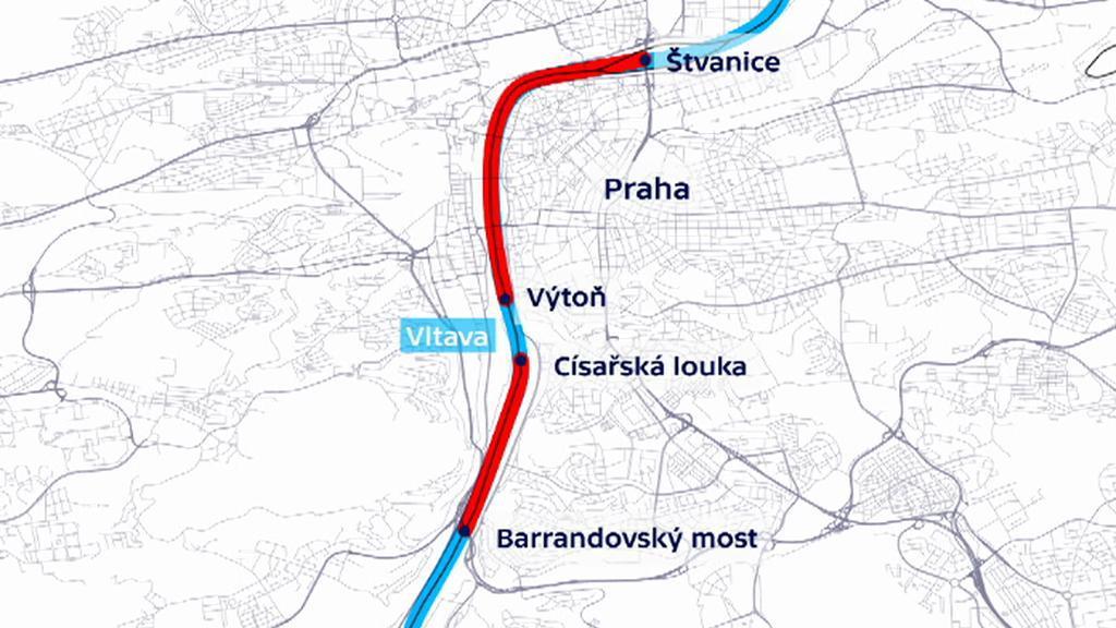 Dva úseky v Praze na Vltavě, kde budou muset lodě zpomalit