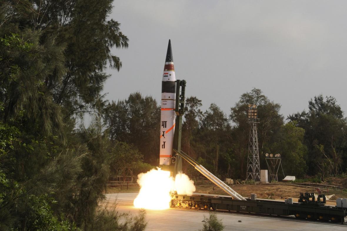 Start indické vojenské balistické rakety