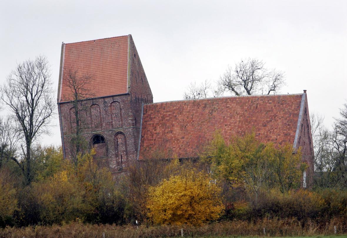 Kostel v Suurhusenu s nejšikmější věží Evropy