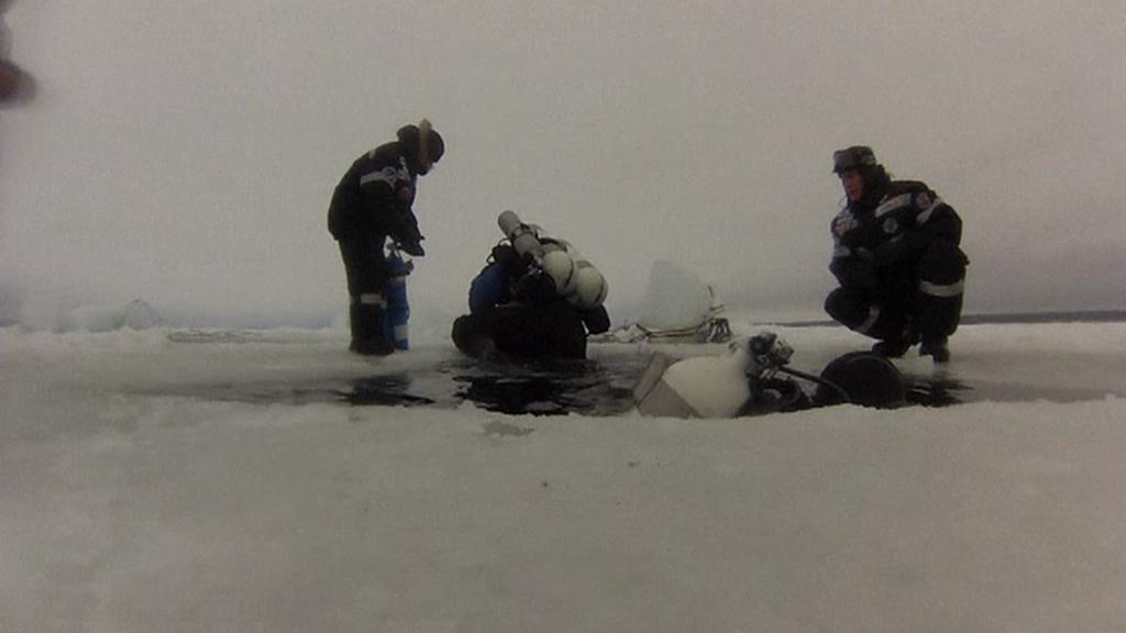 Ponor pod ledem