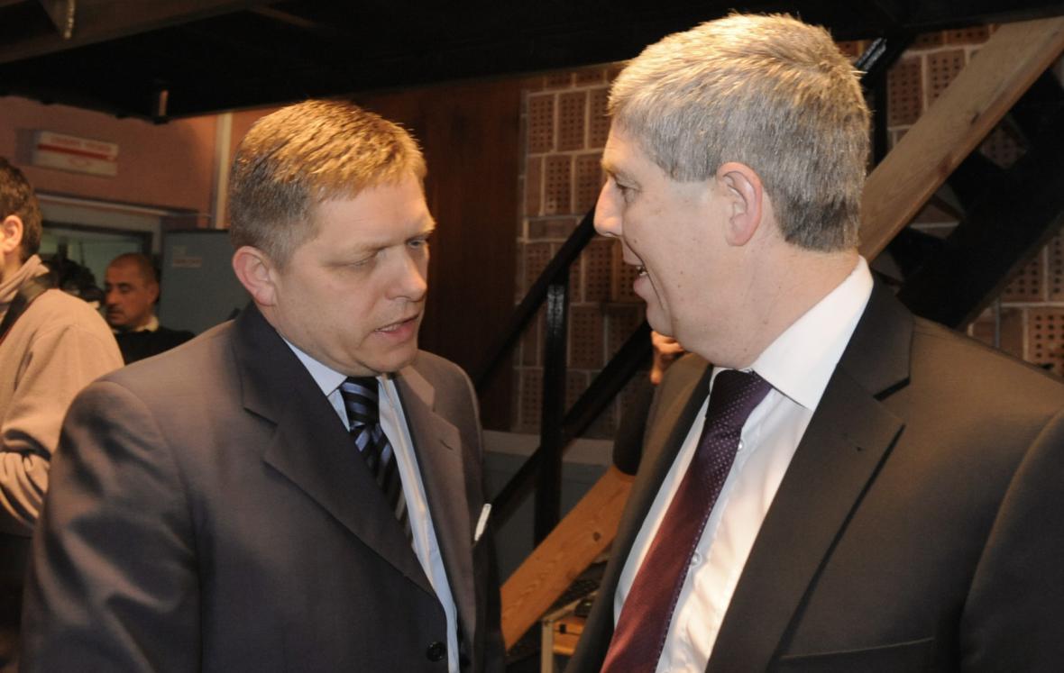 Robert Fico (Smer-SD) a Béla Bugár (Most-Híd)
