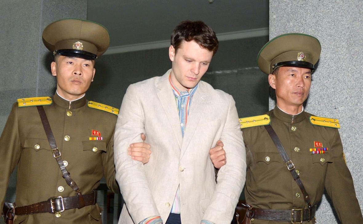 Zatčený Američan Otto Warmbier