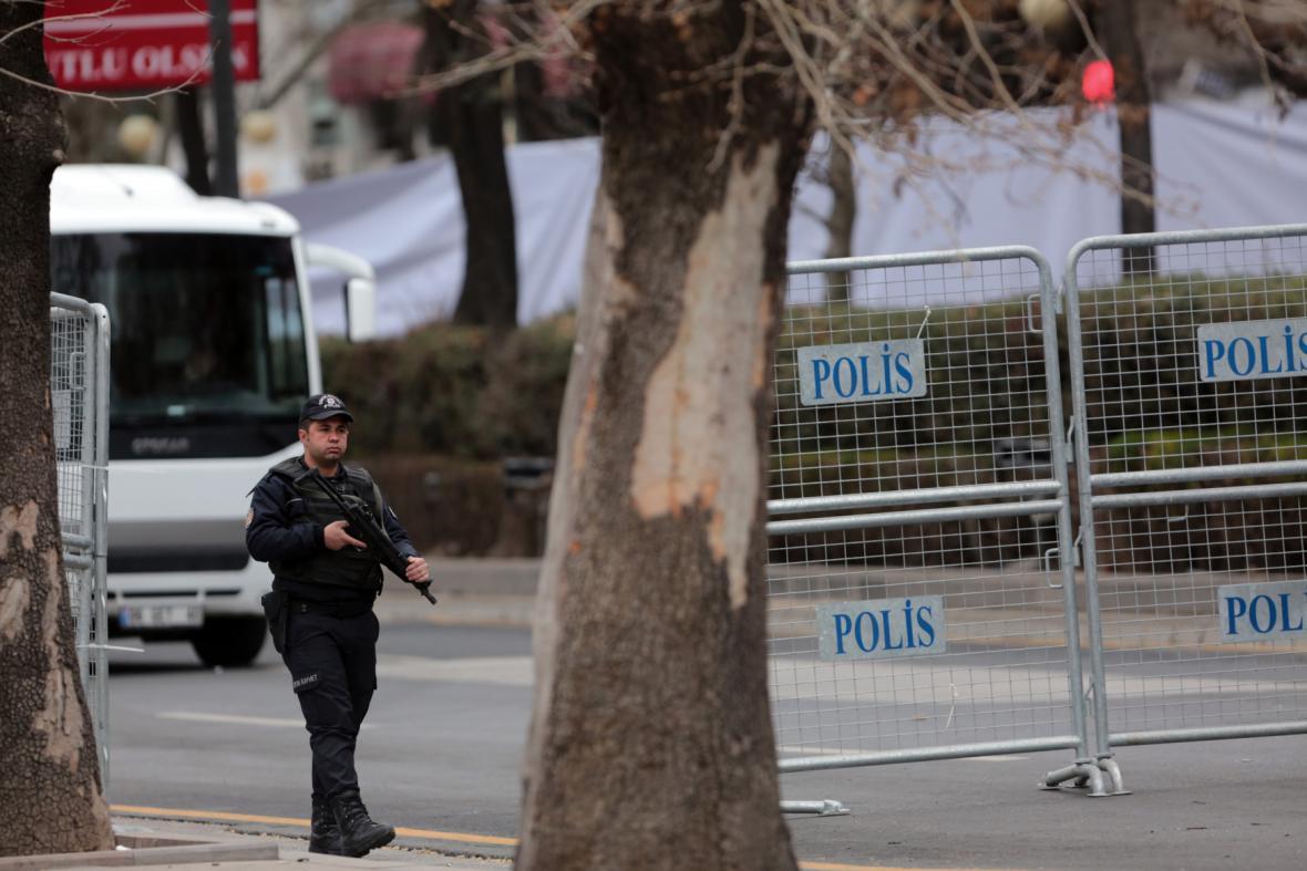 Místo nedělního útoku v Ankaře