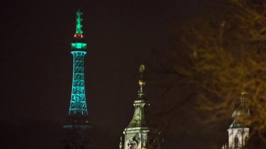 Petřín oslavil svatého Patrika zelenou barvou