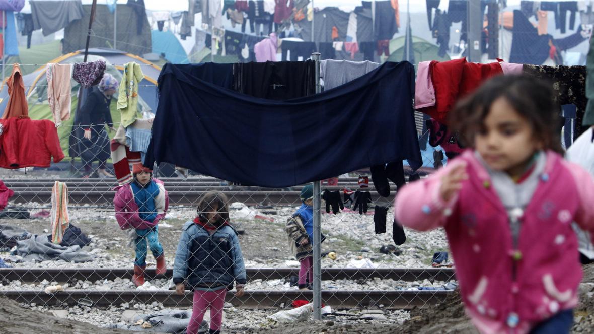 Uprchlický tábor v Idomeni