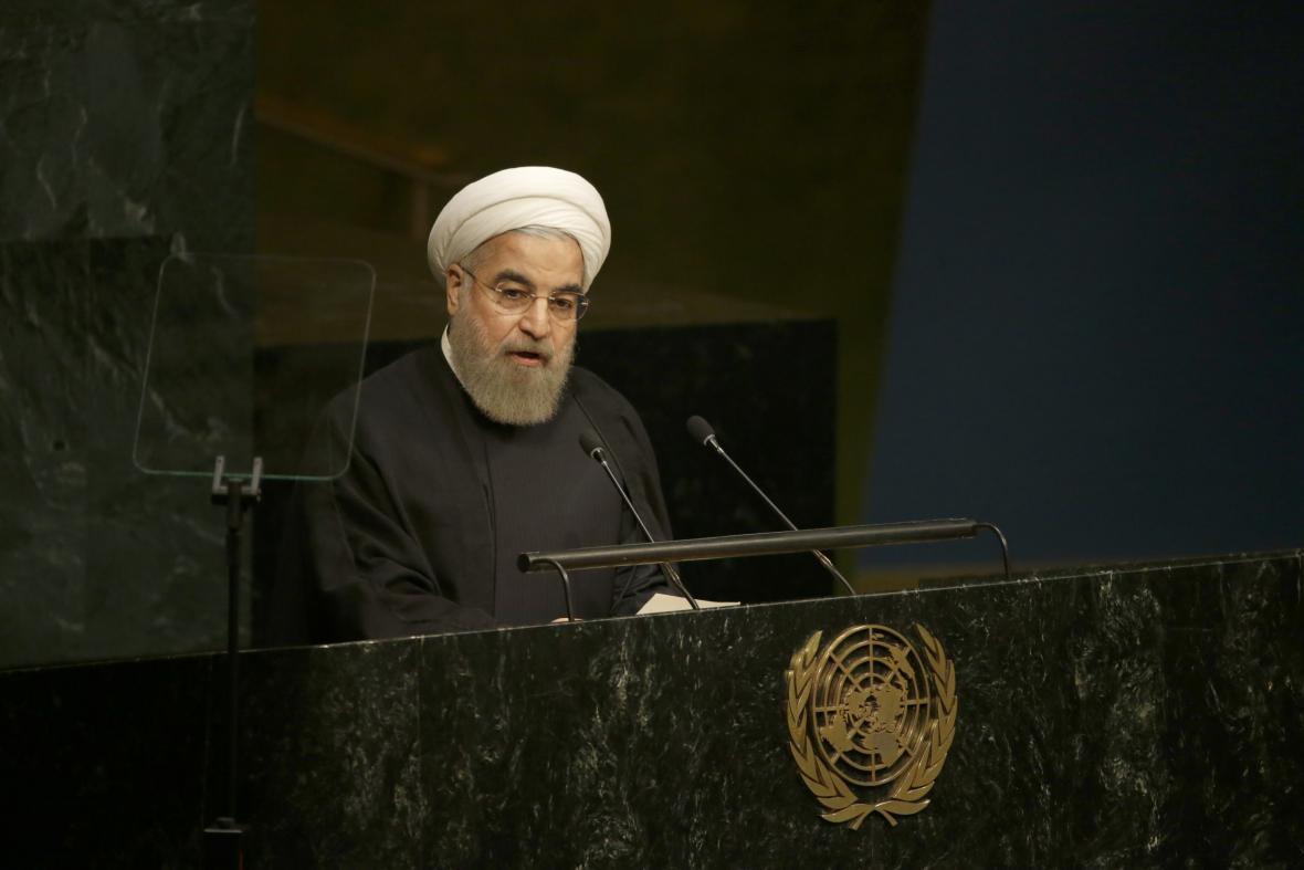 Iránský prezident Hasan Ruhání
