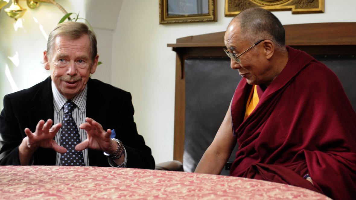Václav Havel s dalajlamou